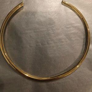 Ann Taylor gold collar necklace